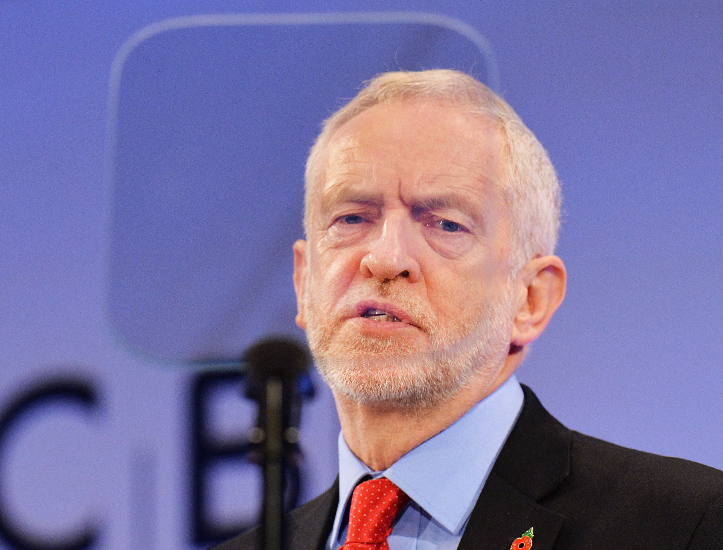 <strong>Support for Jeremy Corbyn is falling, according to the poll</strong>