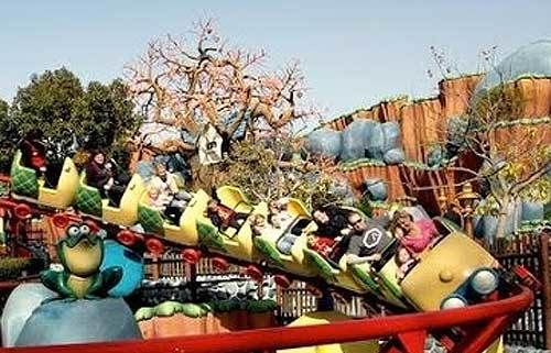As Gadget Go Coaster zooms around the track at Disneyland Park, the tree that previously housed Chip 'n Dale's Acorn Crawl lo