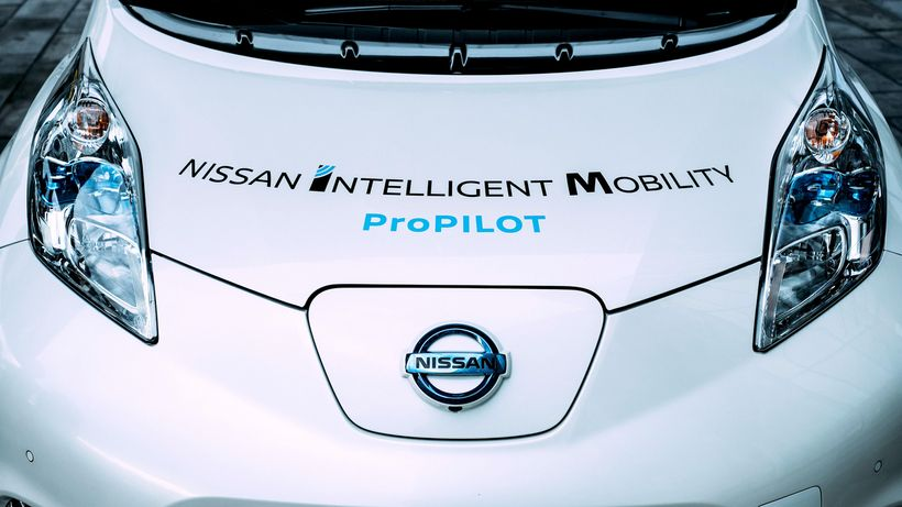 Nissan's electric Leaf and other cars are read ushering in an era of self-driving cars.