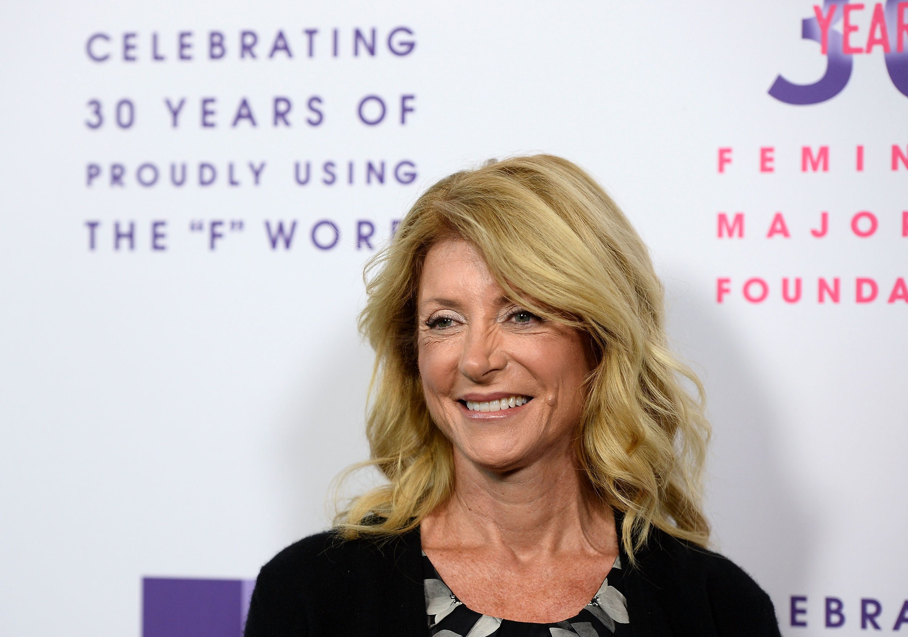 LOS ANGELES, CA - MAY 22:  Former Texas State Senator, The Honorable Wendy Davis arrives at the Feminist Majority Foundation 30th Anniversary Celebration at the Directors Guild Of America on May 22, 2017 in Los Angeles, California.  (Photo by Amanda Edwards/WireImage)