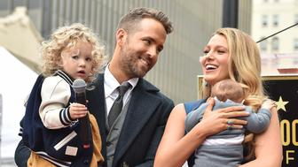 HOLLYWOOD, CA - DECEMBER 15:  Actors Ryan Reynolds and Blake Lively with daughters James Reynolds and Ines Reynolds attend the ceremony honoring Ryan Reynolds with a Star on the Hollywood Walk of Fame on December 15, 2016 in Hollywood, California.  (Photo by Axelle/Bauer-Griffin/FilmMagic)