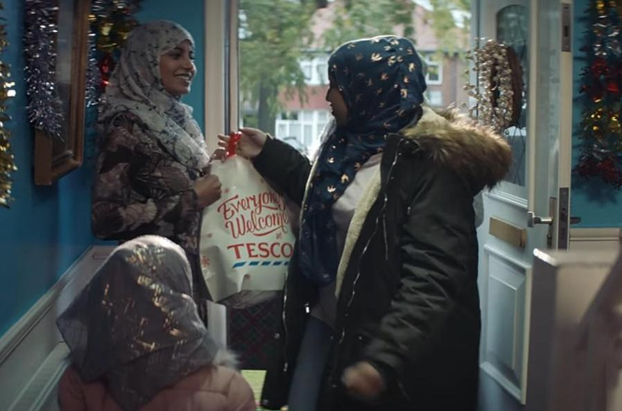 Tesco's festive ad sparked a backlash after viewers noticed it included scenes of a a Muslim family celebrating