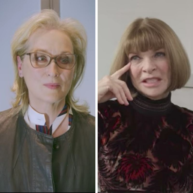 Meryl Streep And Anna Wintour Just Had A 'Devil Wears Prada' Moment