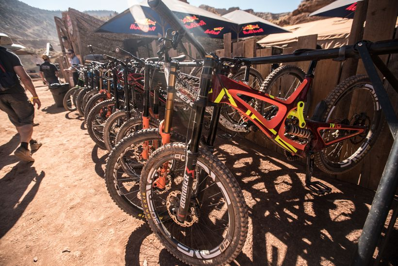 The bikes of Rampage have progressed greatly since the early days of the event. Suspension, frames and wheels are now designe