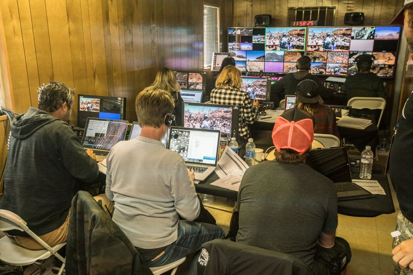MTB Mission Control: At the base of the mountain, among a paddock of trucks and trailers, the Red Bull TV crew helps bring a