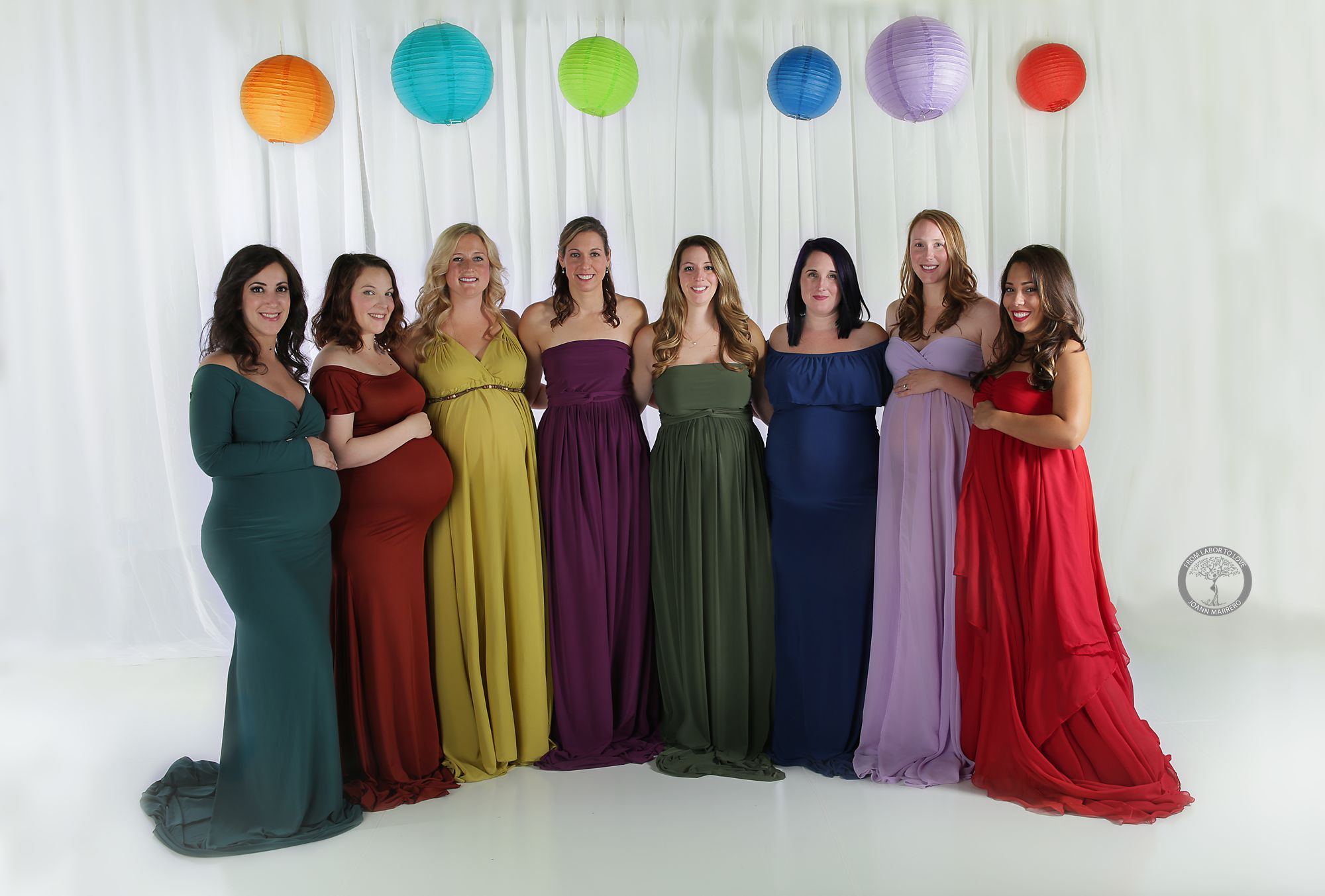 JoAnn Marrero photographed eight mothers to celebrate their rainbow babies.