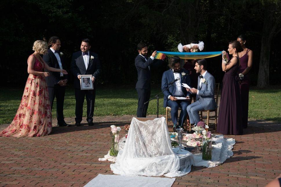 Haghjoo and Nia's wedding ceremony.