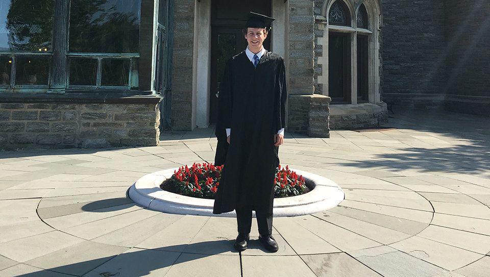 Adam Salomon at his high school graduation. Salomons mother Karen says he was not prepared for life after high school.