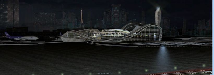 A reconfigured Charles DeGaulle Airport, Paris, Team Motasem Abu Zer