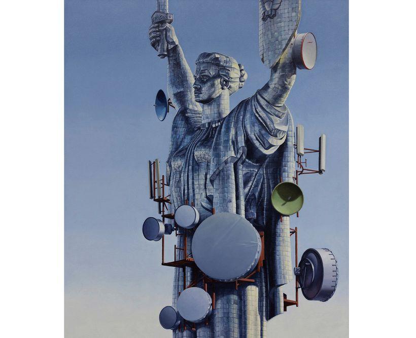 Matthew Quick,<em> History Is Written By the Victors</em>, 2013, Oil on Italian Linen