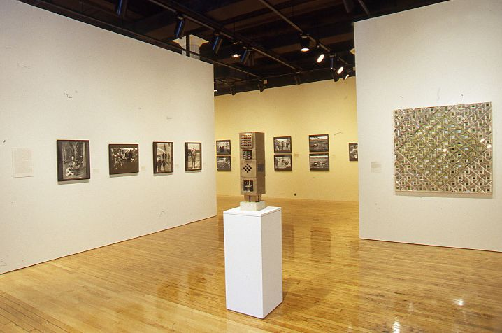 Installation shot of <em>Between Word and Image </em>(2002) at Grey Art Gallery, New York University