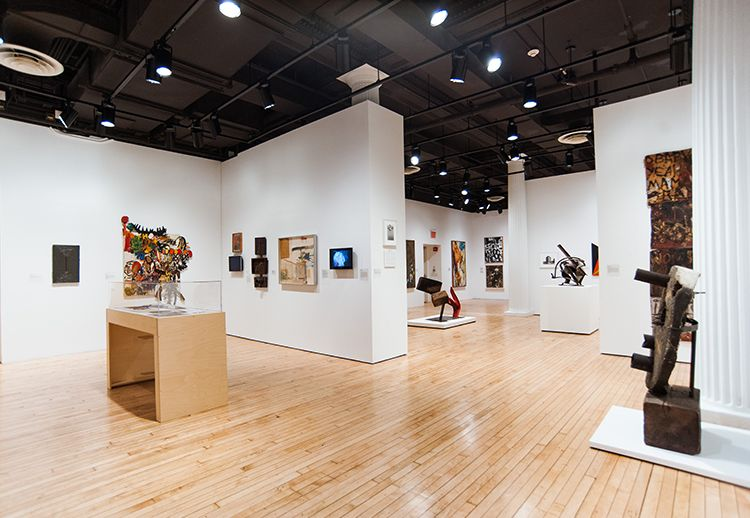 Installation shot of <em>Inventing Downtown: Artist-Run Galleries in New York City, 1952-1965 </em>(2017) at Grey Art Gallery
