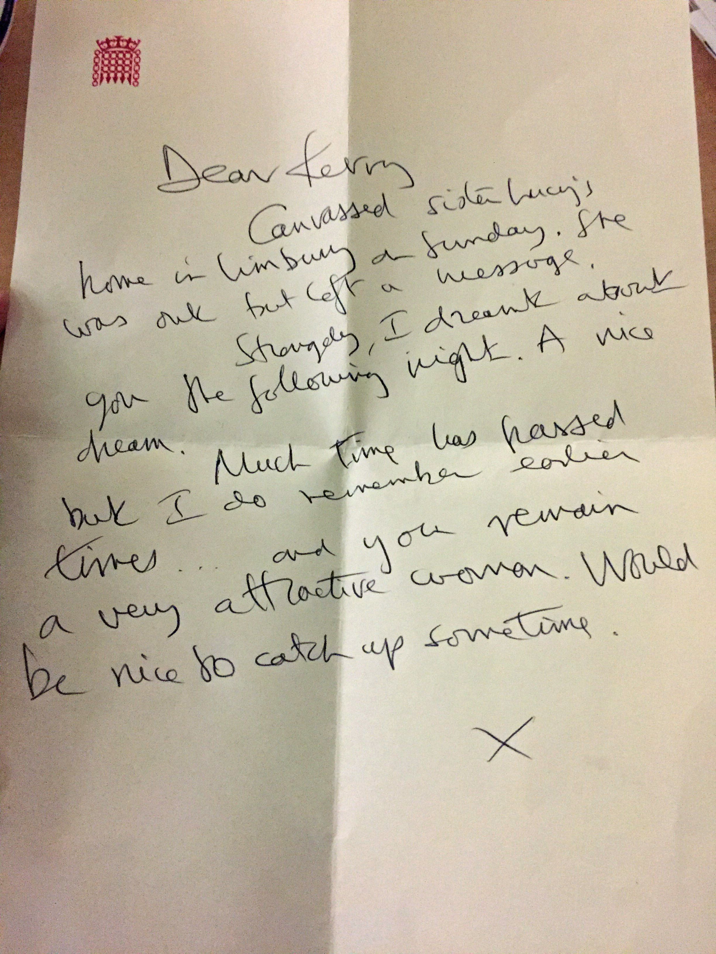 <strong>McCarthy was described in this letter as a 'very attractive woman'.</strong>