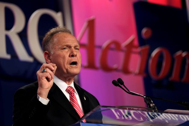 Former Alabama Supreme Court Chief Justice Roy Moore speaks at the Values Voter Summit of the Family...