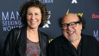 LOS ANGELES, CA - JANUARY 13:  (L-R) Actress Rhea Perlman and actor Danny DeVito attend the premiere of FXX's 'It's Always Sunny In Philadelphia' and 'Man Seeking Woman' at The DGA Theater on January 13, 2015 in Los Angeles, California.  (Photo by Barry King/FilmMagic)