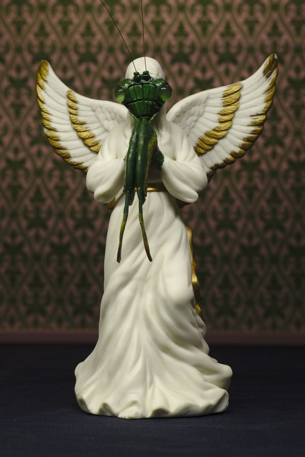 "This <a href=""https://www.etsy.com/listing/499069841/praying-mantis-angel-gilt-edged-wings"" target=""_blank"">praying mantis st"
