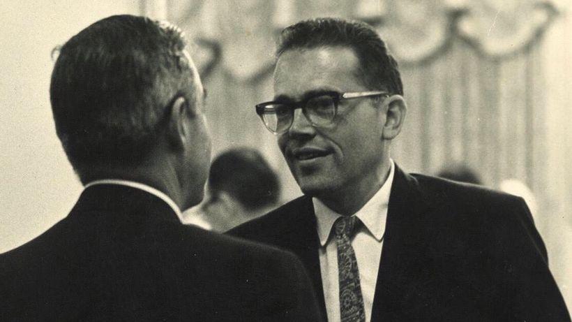 Sig Synnestvedt with Governor William Scranton (PA) circa 1965
