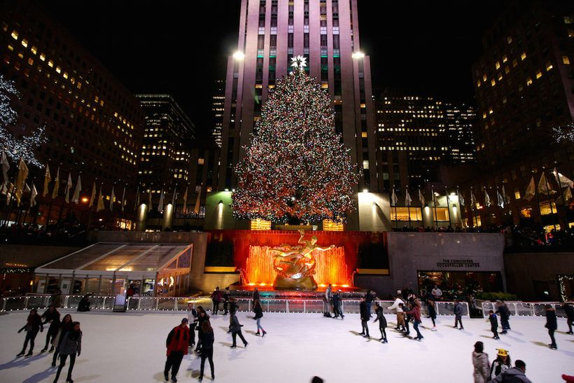 Skate beneath the city's most iconic Christmas tree at Rockefeller Center.