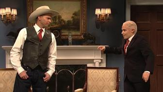Mikey Days Roy Moore gets some advice from Kate McKinnons Jeff Session