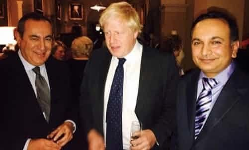 Maltese-born Mifsud (L) with Johnson (C) and Prasenjit Kumar Singh