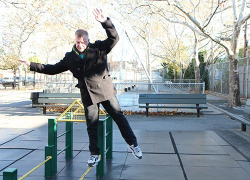 <strong>Bars are made for tightrope walking.</strong>