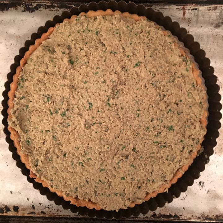 <p>Ready for the oven. It doesn't look all that different when baked - just a darker brown</p>