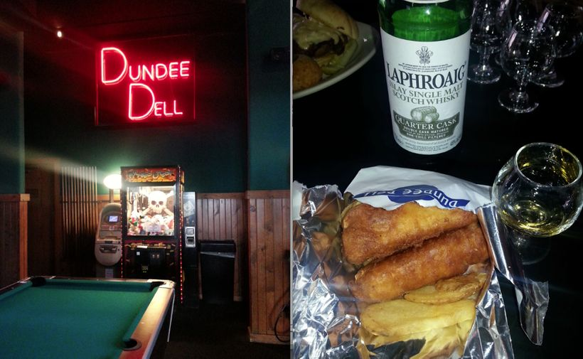 Fish and chips and whiskey? Why not? They're all things the Dundee Dell is famous for.