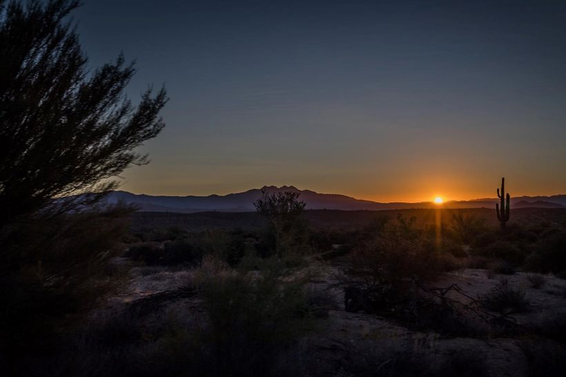 Sunrise in the Sonoran Desert.