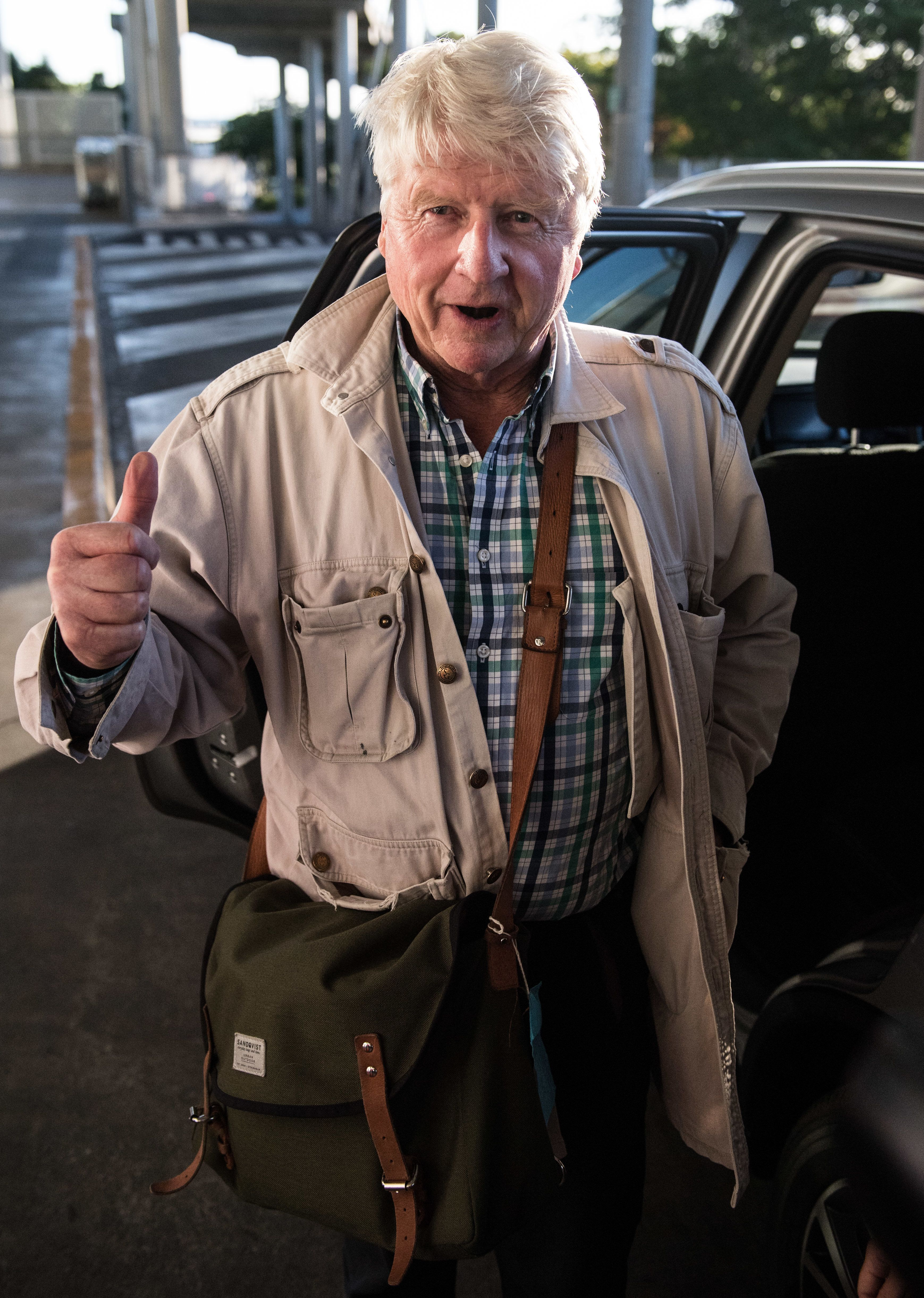 <strong>Stanley was snapped arriving at Brisbane Airport</strong>