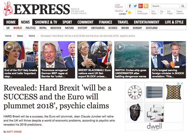 Craig Hamilton-Parker's Psychic Predictions Lauded In Press Despite It Being