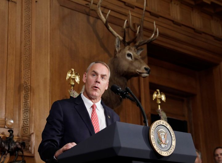 Interior Secretary Ryan Zinke brought in a taxidermy menagerie to decorate his executive suite.