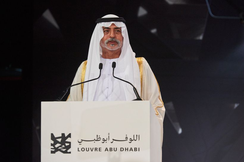 Sheikh Nahyan bin Mubarak Al Nahyan, Minister of Culture and Knowledge at the opening of Louvre Abu Dhabi