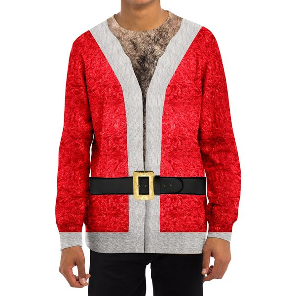 The key to a good ugly Christmas sweater is in the details. Seems to me if you're wearing a sweater that is supposed to be Sa