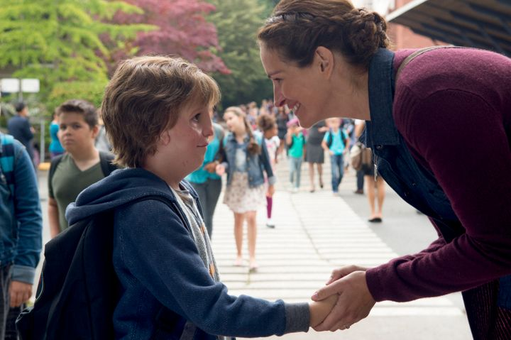 """Jacob Tremblay and Julia Roberts in """"Wonder,"""" based on the bestseller by R.J. Palacio."""