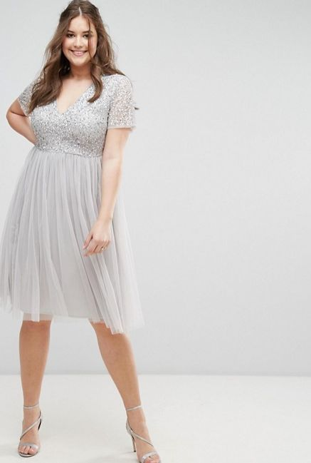 "From <a href=""http://us.asos.com/maya-plus/maya-plus-cap-sleeve-v-neck-midi-dress-with-tonal-delicate-sequins/prd/8189936?clr"