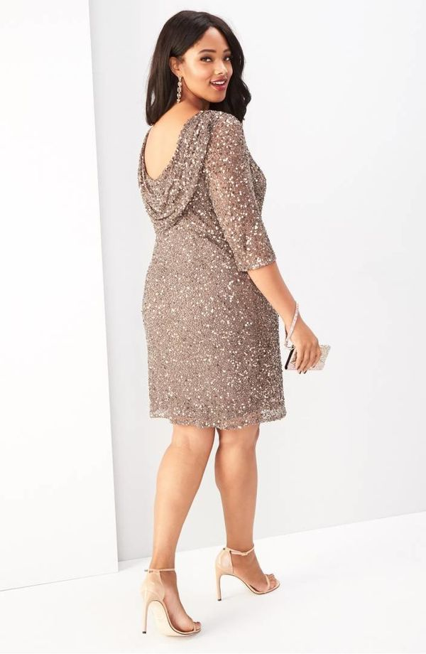 """From <a href=""""https://shop.nordstrom.com/s/pisarro-nights-draped-back-beaded-dress-plus-size/3476055?origin=category-personal"""