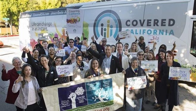 Covered California visits the Santa Cruz Community Health Centers on its 22-stop statewide bus tour to urge people to sign up