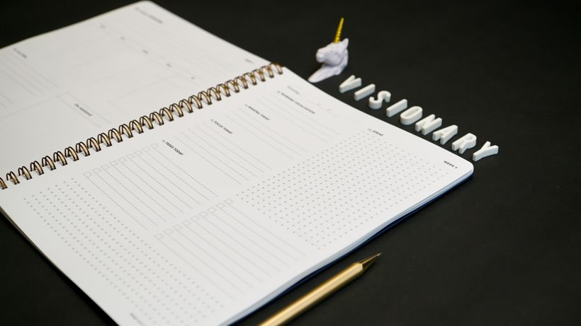 The Everyday Visionary, a minimalist planner for creative professionals