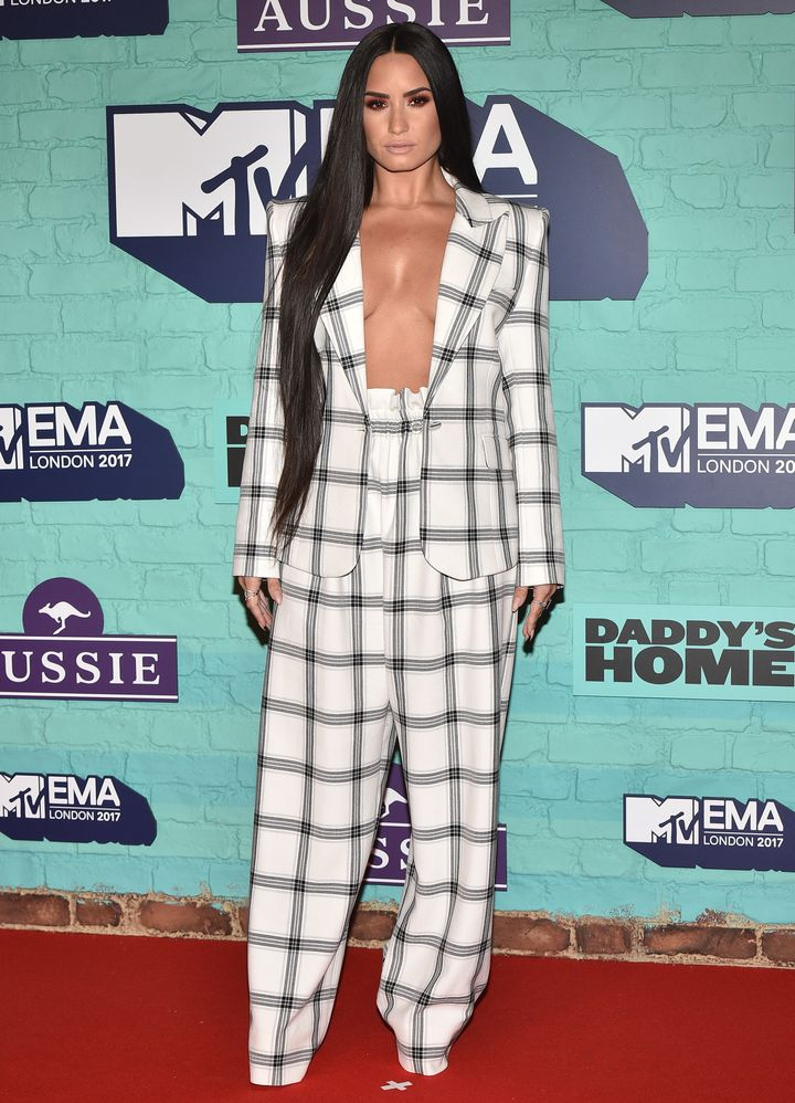 Demi Lovato attends the MTV EMAs 2017 on Nov. 12, 2017 in London, England.