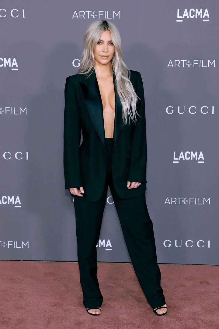 Kim Kardashian at the LACMA Art + Film Gala on Nov. 4 in Los Angeles.