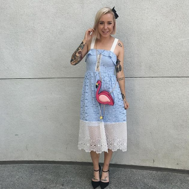 Leslie Kay, the woman behind the DisneyBound Tumblr, showing off her Alice from