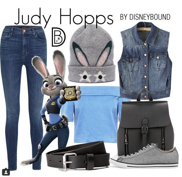 """Here's a look inspired by Judy Hopps from """"Zootopia."""""""