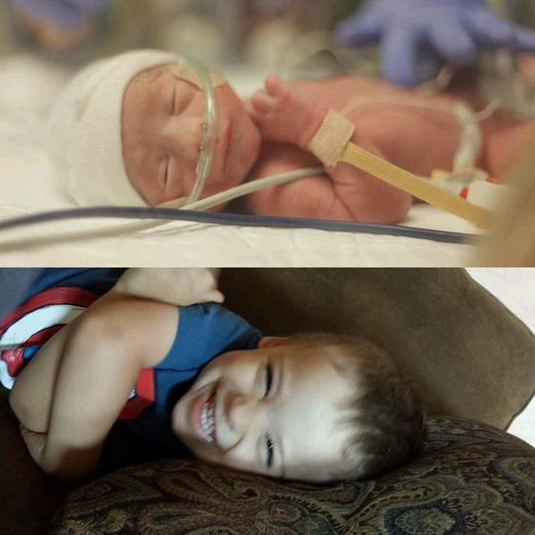 Here are pictures of my youngest, Emmett. He was born right at 30 weeks, weighing 3.5 pounds. His lung collapsed shortly afte