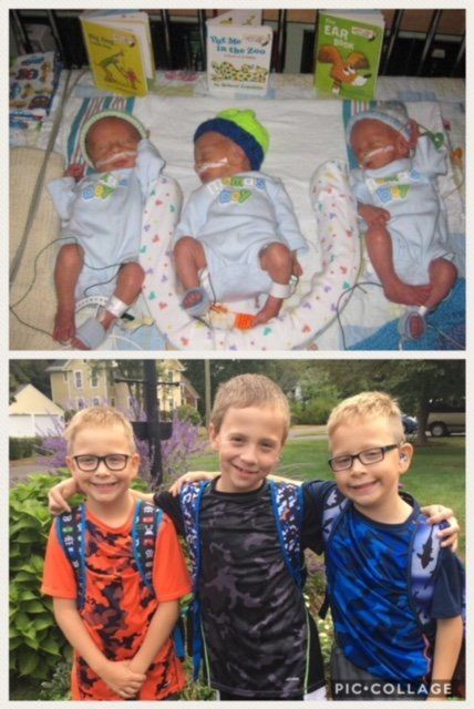 My preemies were born at 31 weeks, five days in 2009 -- triplet boys. Today, they are healthy, very active 8-year-olds. We we