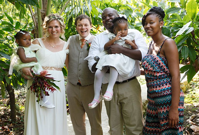 Getting married in Belize with our God Daugher and Belizean family.