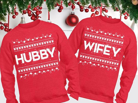 "Get the set <a href=""https://www.etsy.com/listing/567460689/hubby-wifey-sweaters-hubby-wifey?ga_order=most_relevant&ga_se"
