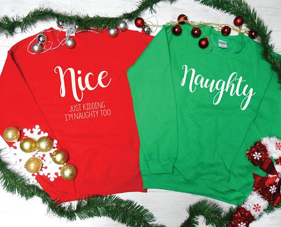 "Get the set <a href=""https://www.etsy.com/listing/551788486/naughty-nice-christmas-sweatshirts?ga_order=most_relevant&ga_"