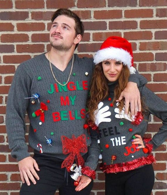 Couples Christmas Sweaters.18 Ugly Christmas Sweaters For Couples That Are So Corny