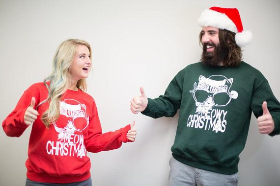 134f30790dd531 18 Ugly Christmas Sweaters For Couples That Are So Corny They're ...