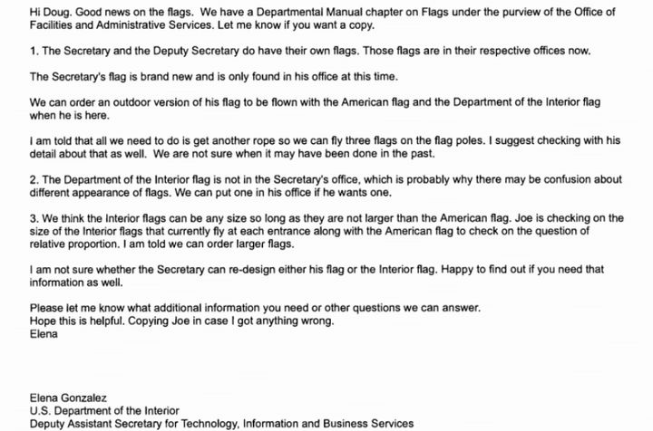 Interior Decorator: Zinke's Push To Redesign Flags And